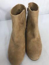 Libby Edelman Women's Suede Tan Boots Size 6.5 M Ankle Booties LE VIOLET