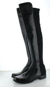62-69 NEW $695 Women's Size 10 M Stuart Weitzman 5050 Leather OTK Boots - Black