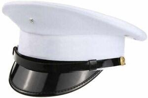 Premium Quality Chauffeur Hat Army Captain Hat Fancy Dress Military Costume