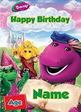 - barney et ses amis-idéal pour son fils personnalisé enfants's carte d'anniversaire