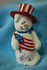 Sarah's Attic Boo Wonders 7830 July Grateful Giggles Patriotic Figurine