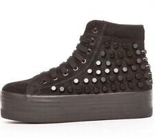 JEFFREY CAMPBELL Studded Homg Sneaker in Black Suede platform suede size 38 uk5