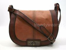 FOSSIL ZB4902 VINTAGE REISSUE FLAP TURNLOCK CROSSBODY LEATHER SADDLE BAG