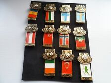 UEFA Youth Tournament x 11 Enamel Badges