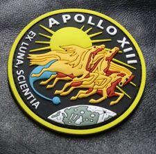 Apollo 13 XIII EX LUNA SCIENTIA Crew Hook Fastener PATCH (3D-PVC Rubber)