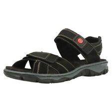 Sandali e scarpe nere zeppa Rieker per il mare da donna
