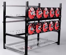 12 GPU impilabile Open Air Rig Minerarie telaio in alluminio Miner caso etc BTH con Ventilatore