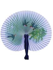 Carta GIAPPONESE VENTOLA PIEGHEVOLE Geisha Orientale Cinese Costume Accessorio Nuovo