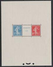 "FRANCE YVERT BLOC 2  SCOTT 241 "" STRASBOURG EXHIBITION SHEET 1927"" MNH XF K585J"