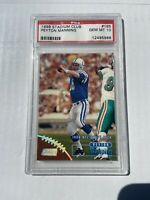 1998 Stadium Club Football Peyton Manning ROOKIE RC #195 PSA 10 GEM MINT