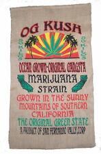 OG KUSH GANGSTER BURLAP BAG #24 feed bags gunny sack novelty marajuana pot leaf