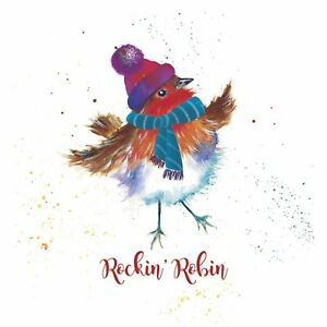 Rockin Robin Charity Christmas Cards Pack of 10 Blue Cross for Pets