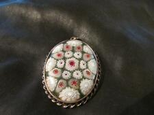 Beautiful Vintage Large Silver & Caithness Glass Millefiori Pendant, Birm1978