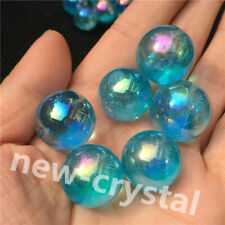 blue Rainbow aura flame sphere of titanium in the seed crystal ball 6pcs+ 50g