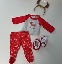 NEW American Girl Christmas Reindeer PJs Set for Doll NO CANADIAN IMPORT FEES 🍁