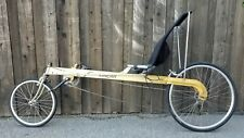 Linear folding 21 speed recumbent bike excellent condition. BRAND NEW TIRES.