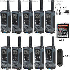 Motorola Talkabout T200 Walkie Talkie 10 Pack Set 20 Mile Two Way Radio Package
