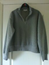 TOPSHOP FLUFFY & COSY LOOSE FITTING LONG SLEEVE GREY JUMPER, SIZE 10 PETITE