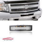 Fits 2007-2013 Chevy Silverado 1500 Front Upper Grille With Lights Matte Black