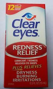 Clear Eyes Redness Relief Eye Drops 0.5 fl oz /15 ml