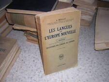 1928.langues dans Europe nouvelle. Meillet.linguistique