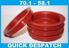 4 x 70.1 - 58.1 LEGA RUOTA gli anelli di centraggio HUB colletto di adattarsi FIAT COUPE 16 V 20 V