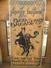 Primitive Wood Halloween sign  SLEEPY HOLLOW BED & BREAKFAST