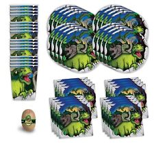 Dinosaur Birthday Party Supplies - Dinosaur Party Supplies For 16 Guests - 49 pc