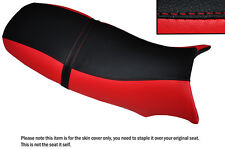 BLACK & RED CUSTOM FITS BUELL BLAST POINTY STYLE DUAL LEATHER SEAT COVER