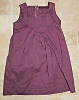 COMPTOIR DES COTONNIERS fille 6 ans superbe robe couleur pourpre 2DITTO dress