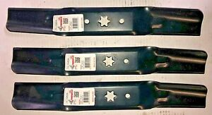 """Set of 3  2-in 1  Blades for 50"""" Deck Cub Cadet, MTD, 942-05052A"""