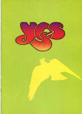 Original 1975 Sí Reino Unido Concierto Program Relayer Tour Libro British Spring