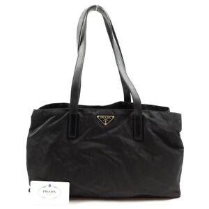 GUCCI Jackie Line One Shoulder Bag Handbag Canvas x Leather Black
