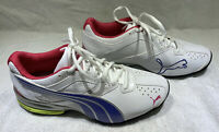 Womens Puma Sport Lifestyle Running Athletic Tennis Shoes Size 8.5 White Blue