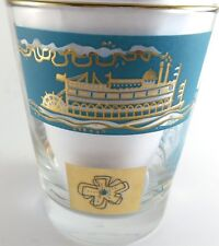 Libbey Southern Comfort Bar Old Fashioned Glass Steam River Boat Vintage