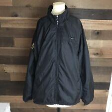 Vintage Nike Black Windbreaker Oregon Ducks Mens Size Xxl Full Zip Jacket