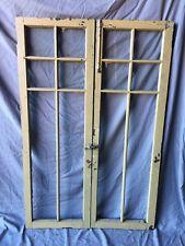 Pair Antique 6 Lite Casement Door Window Cabin 00006000 et 19X56 Vintage Old 257-18C