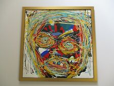 AMERICAN ABSTRACT EXPRESSIONISM EXPRESSIONIST MODERNIST PAINTING BRUTALIST FACES