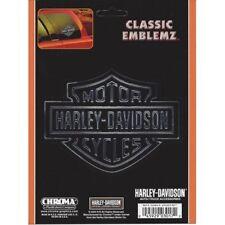 Harley-Davidson Decal - Chrome Black Embossed Logo Decal Free Shipping