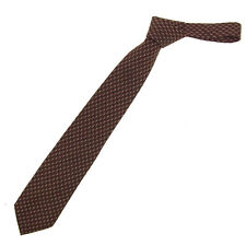 Chanel Neck Tie Brown Mens Authentic Used T349