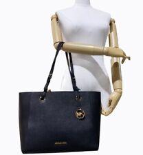 Michael Kors Уолш средний сумка сумка Jet Set Ew сафьяновая кожаная черная