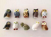 Fève de collection au choix _ de la série LES CHOUETTES_ Objet vitrine porcelain