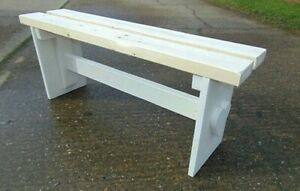 SHABBY CHIC FARMHOUSE KITCHEN DINING ROOM BENCH SEAT - HANDMADE SOLID PIECE