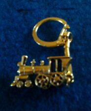 Steam Locomotive Key Chain Gold Tone
