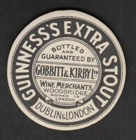 Vintage Beer Label - Guinness Extra Stout.  Bottled by Gobbitt & Kirby Ltd