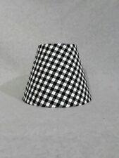Buffalo Check Lamp Shade.  Gingham. Black and white.  Homespun