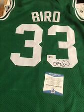 Autographed Larry Bird Boston Celtics Jersey Beckett witnessed and Bird hologram