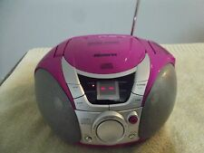 Memorex Pink Portable CD Player MP3112-40 CD/Radio Boombox Tested