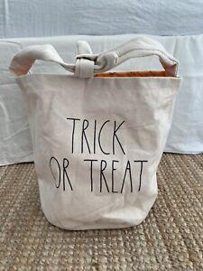 Genuine Rae Dunn Halloween TRICK OR TREAT Pumpkin Bag - USA Import