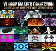 VJ Loops HD - Professional FX Loops & Animation - VJ & DJ Collection - 32GB USB